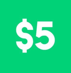 five dollar signup bonus