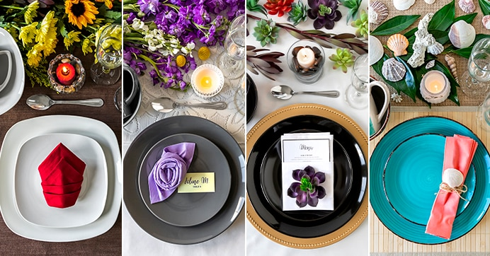 tables with these setting ideas