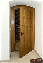 Tür zur Sakristai abgedichtet