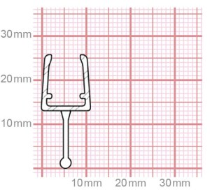 Duschdichtung | 6-8 mm Glasstärke | 019-10
