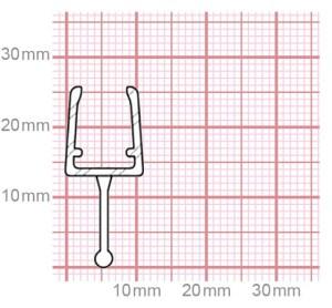Duschdichtung   6-8 mm Glasstärke   019-10
