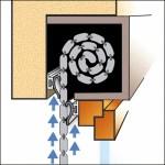 Rollladenkasten-Abdichtung mit der Rollox-Schiene
