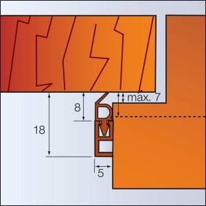 Zargo L18 - Kunststoff-Schiene - zum Abdichten