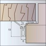 L19 - Zargo-Schiene - Abdichtungsschiene aus Kunststoff