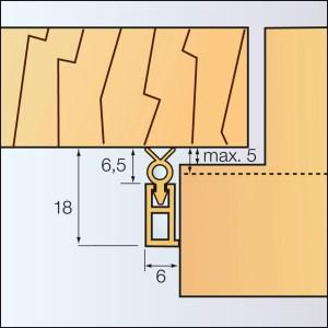2L18 - Zargo - Abdichtungsschiene aus Kunststoff
