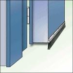 Dollex4 IBS Bürstenschiene für Eingangstüren und Garagen