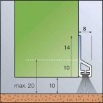 ZargoB-Transparent Zum Kleben - Transparente Kunststoff-Leiste mit Bürstendichtung