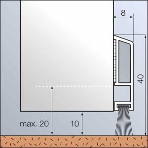Zargo B40 - Abdichtungsschiene aus Kunststoff