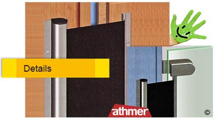 Türen Klemmschutz Nr. 25 für die Gegenbandseite von Athmer