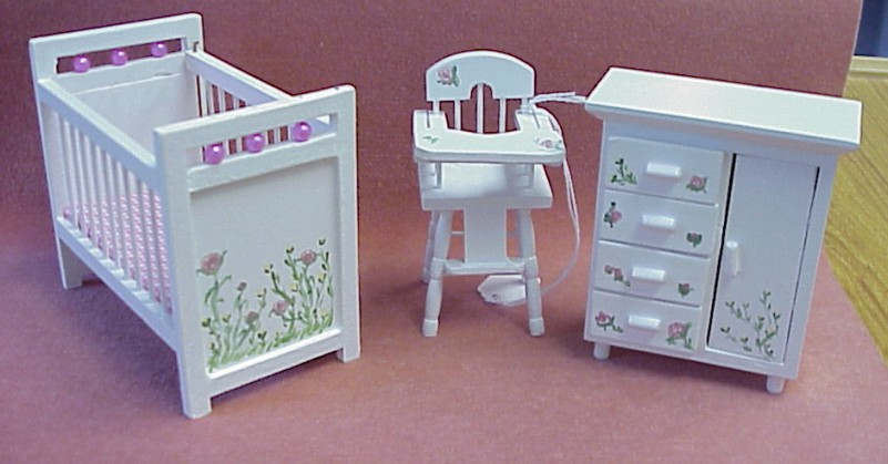 Dollhouse Hand Painted Furniture In 1 Scale From