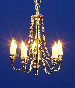 Dolls House Light 5 Arm Chandelier