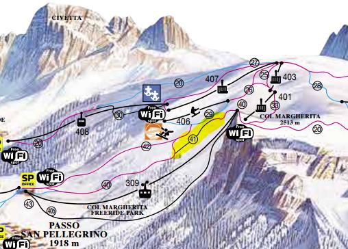La Volata, die neue Piste am Col Margherita