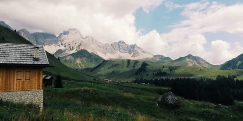 Rifugio Fuciade dal Passo San Pellegrino