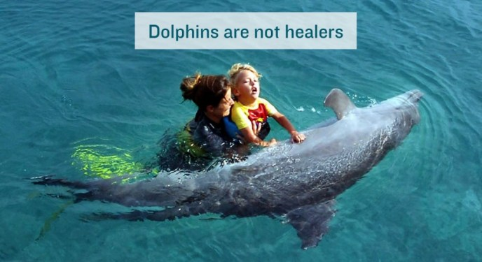 Dolphin and autistic child