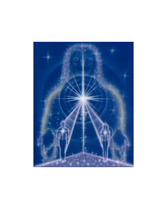 Awakening Your Divine Ka art | 5x7 Laminated Print | Dolphin Star Temple