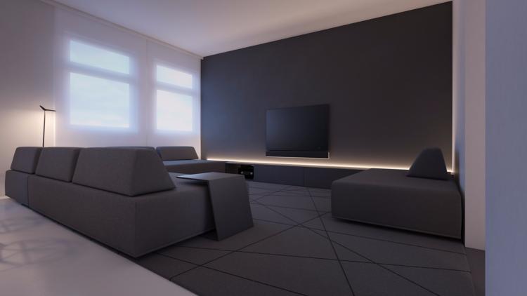 ruban led encastre sur un meuble