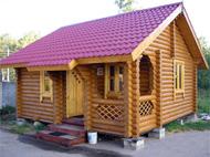 Проект деревянной бани из бревна