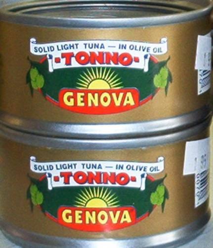 Genova Solid Light Tuna tonno in Olive Oil 3 oz FS