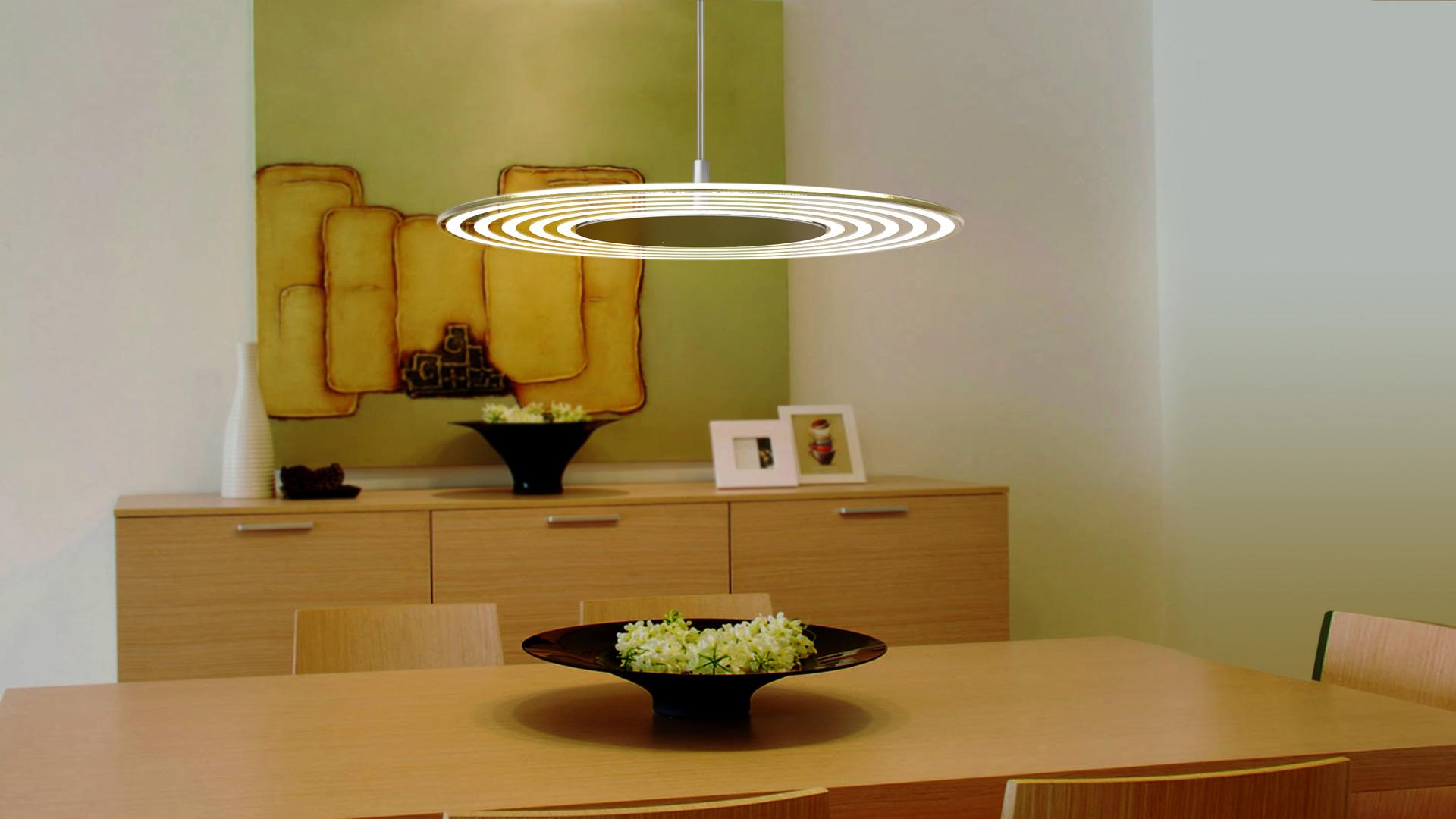 sospensione LED vetro