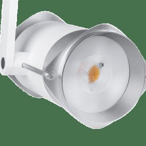 Proiettore LED TRACK professionale per attacco elettrificato trifase ad altissime prestazioni con ampiezza del fascio luminoso regolabile da 24 a 60 gradi