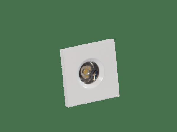 Faretto LED segnapasso 1W bianco quadrato
