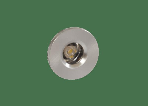 Faretto LED segnacaso 1W rotondo silver incasso