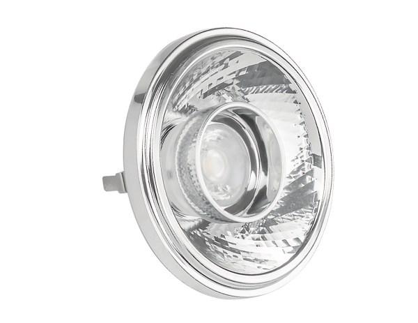 Faretto LED AR111 12W 12V con attacco GU53 per un'alta luminosità Con ottiche intercambiabili per l'ampiezza dell angolo del fascio