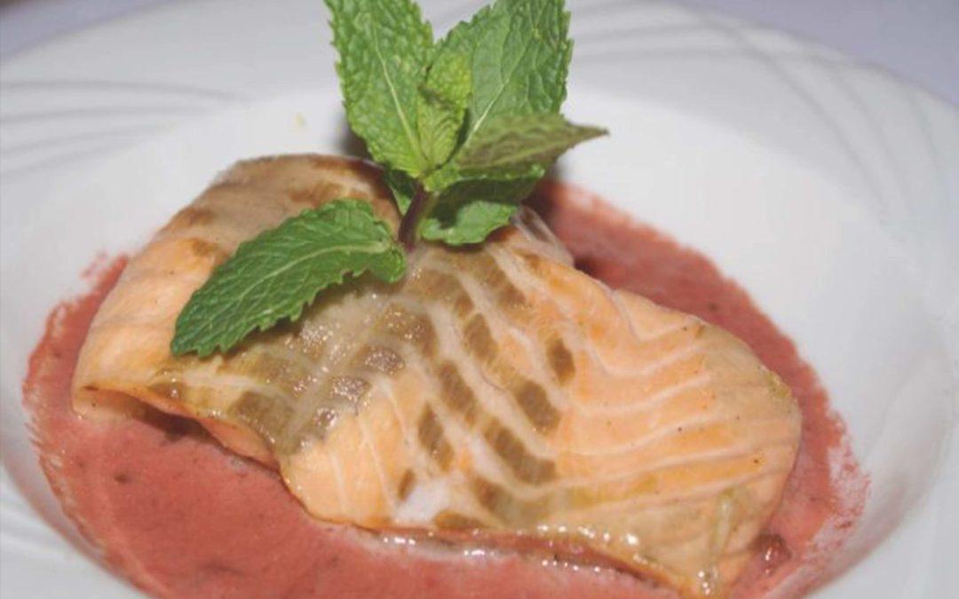 Saumon aux fraises
