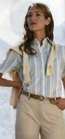 Каталог Peter Hahn. Рубашка в полоску для женщин естественного стиля.