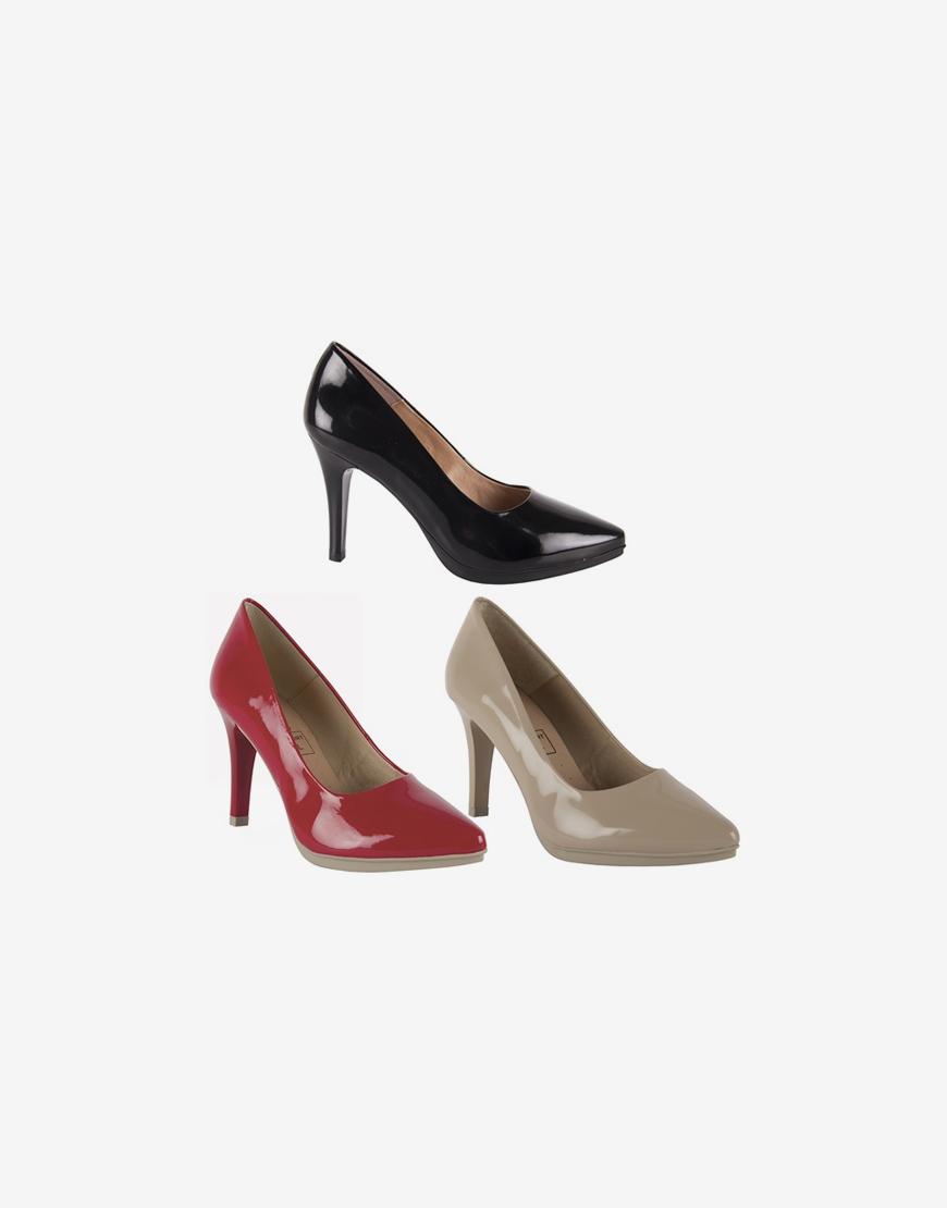 Zapato salón mujer piel charol