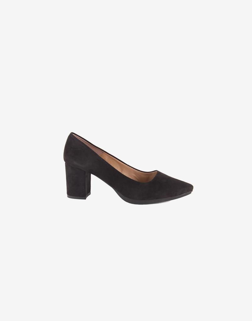 Zapato salón piel mujer ante