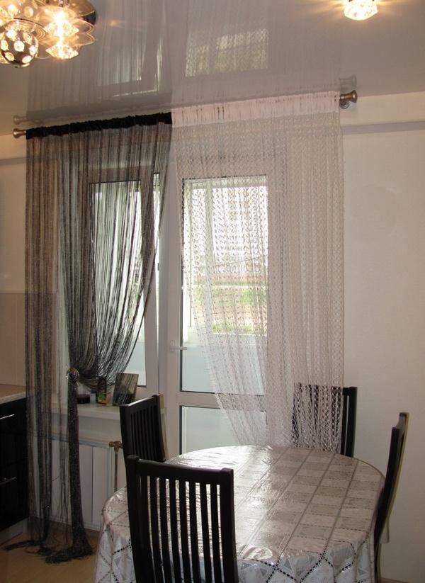 Шторы на кухню с балконной дверью: идеи с фото | Дом Мечты