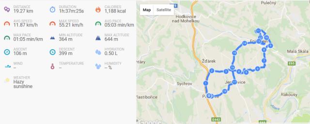 trasa a data k výletu kolem Frýdštejna
