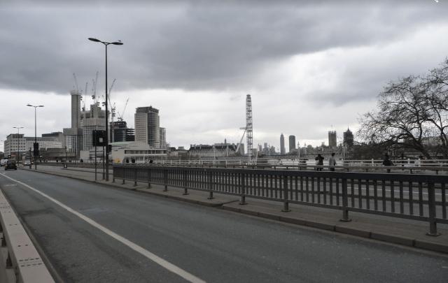 London Eye z Waterloo bridge