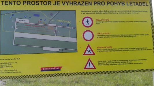 info u letiště Milovice