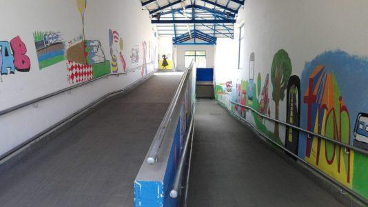 podchod, nádraží Lysá nad Labem
