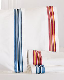 Grosgrain Ribbon Sheets from Pottery Barn
