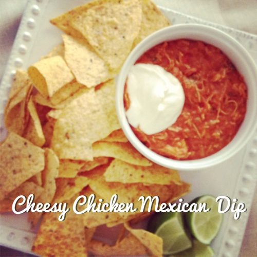 Cheesy Chicken Mexican Dip
