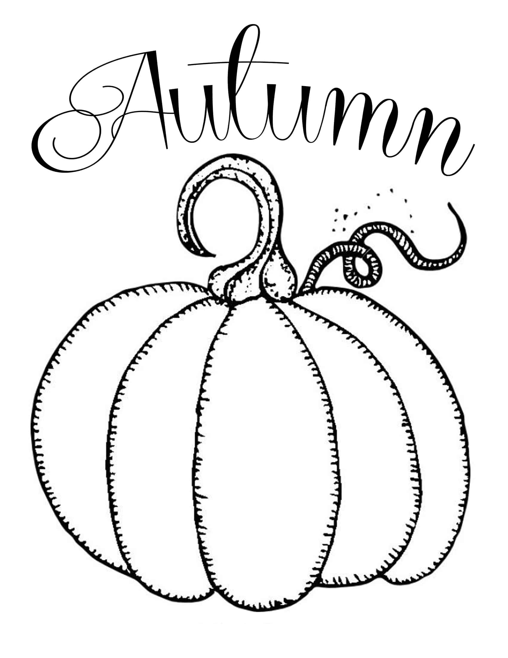 Free Printables Chalkboard Autumn Pumpkin