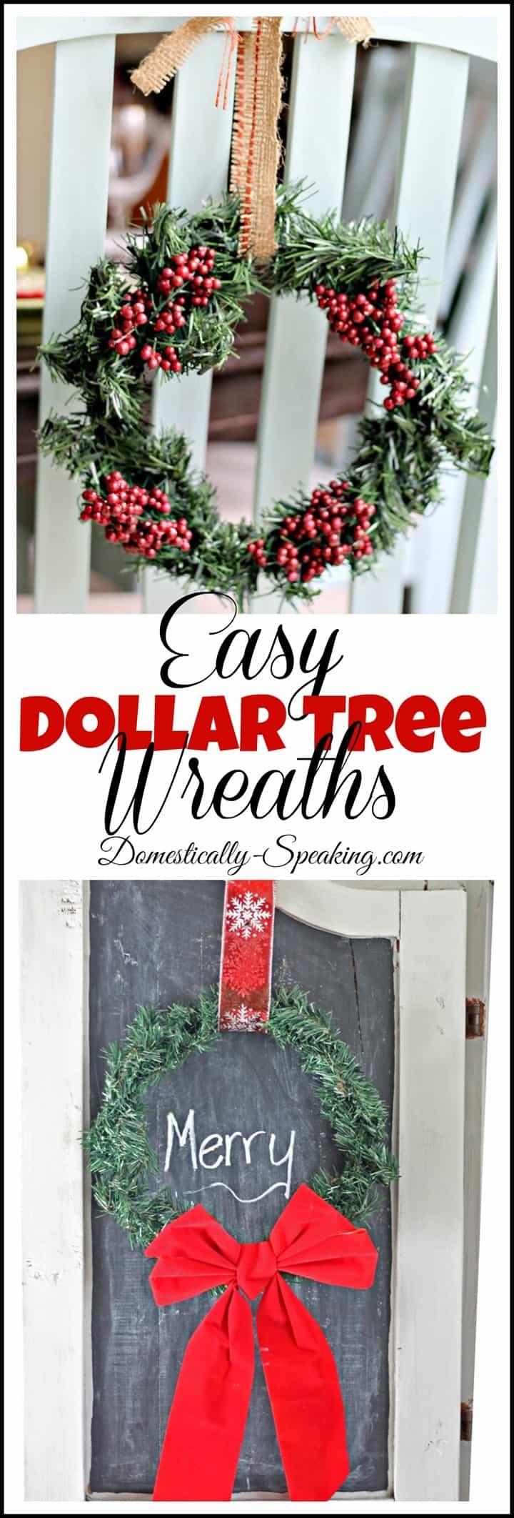 Easy Dollar Tree Wreaths Domestically Speaking