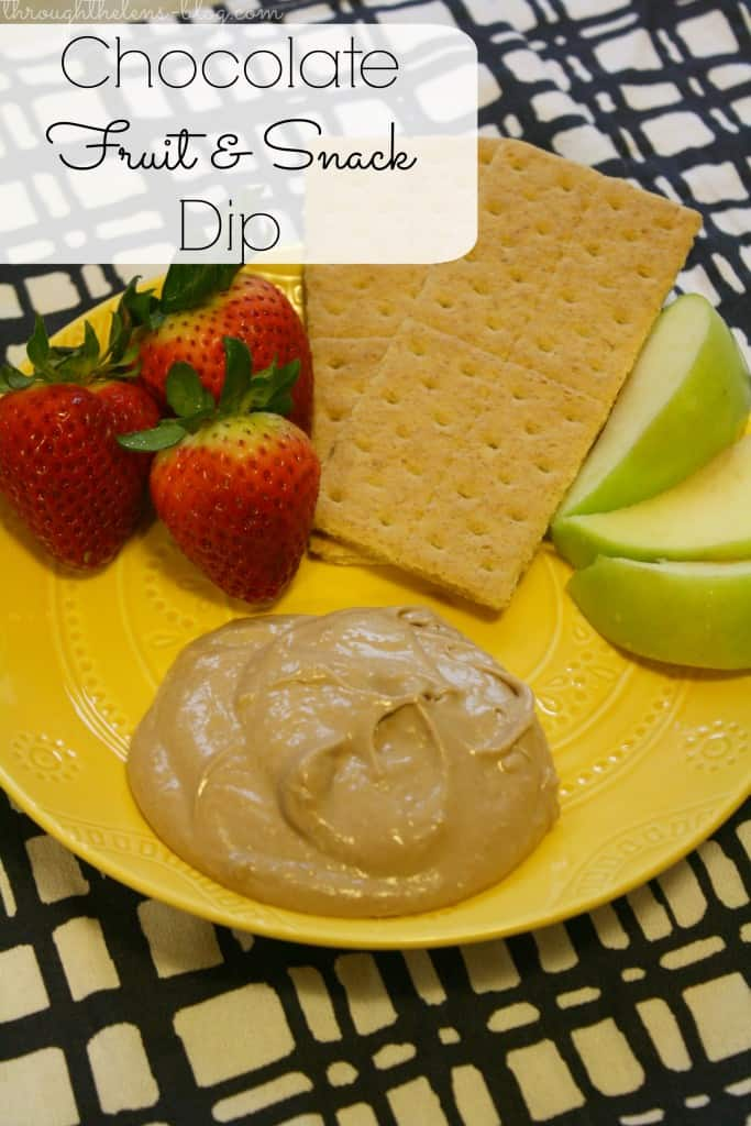 Chocolate Fruit And Snack Dip Domestically Speaking