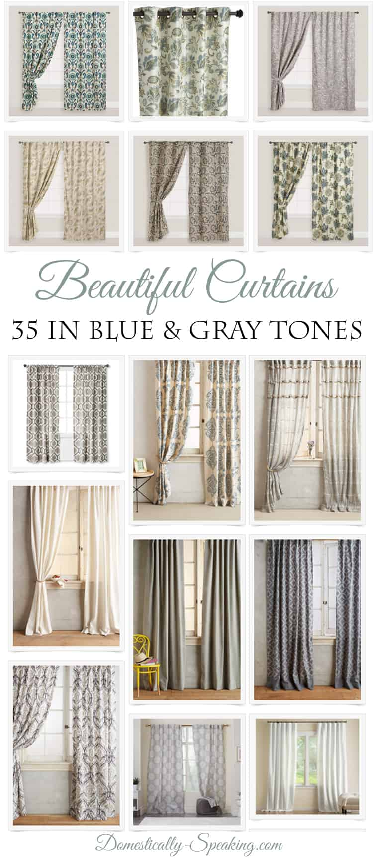 35 Beautiful Curtains - Domestically Speaking on Master Bedroom Curtain Ideas  id=80744