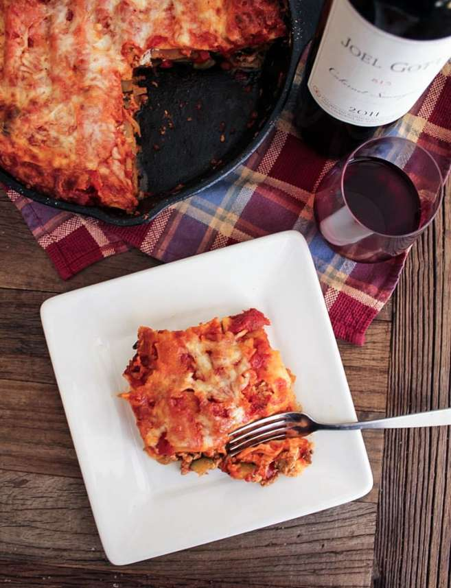 skillet-lasagna-with-turkey-sausage-and-vegetables-1
