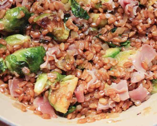 Farro-risotto-with-prosciutto-parmesan-and-brussels-sprouts-step-8