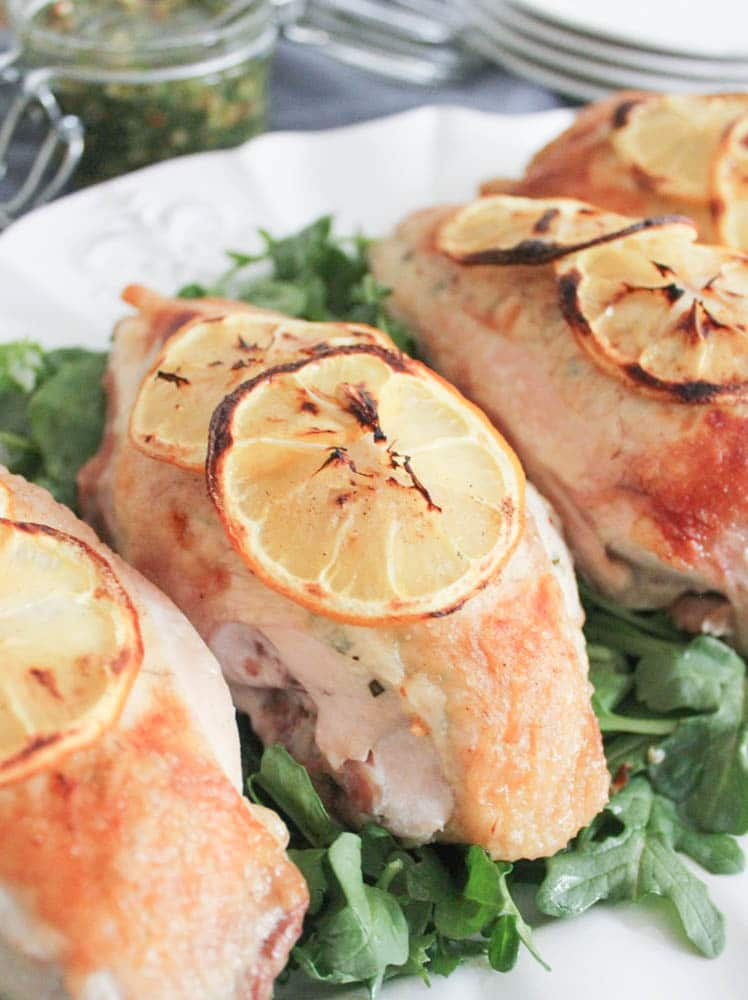 Goat Cheese Stuffed Chicken Breasts with Rustic Basil ...