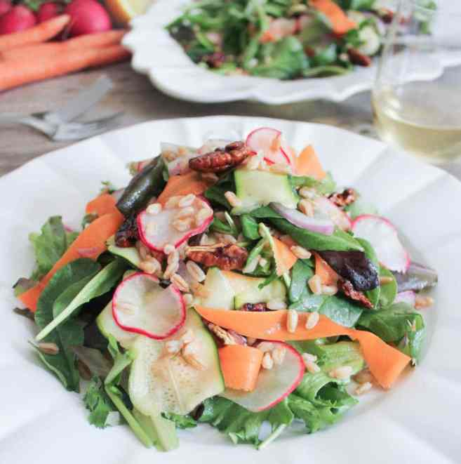 Vegan-Shaved-Vegetable-Salad-with-Farro-and-Maple-Roasted-Pecans-5