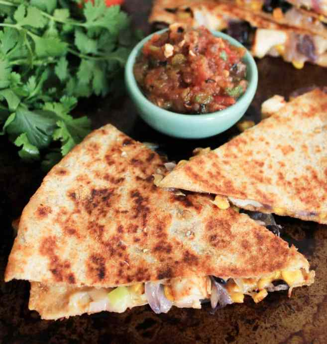 Spicy-Chicken-Quesadillas-with-Corn-Black-Beans-and-Caramelized-Onions-5