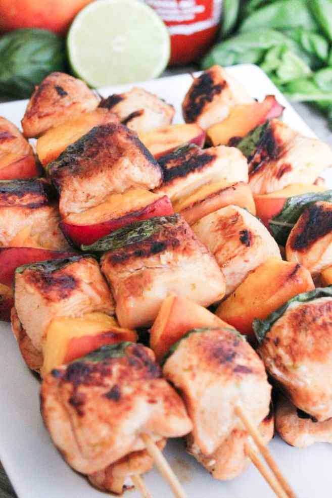 Sriracha-glazed-grilled-chicken-skewers-with-peaches-and-basil-6