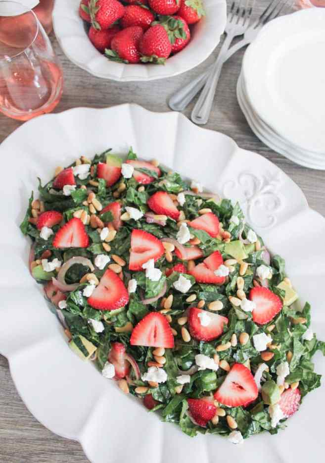Summer-Kale-Salad-with-Strawberries-Avocado-Pine-Nuts-and-Goat-Cheese-2