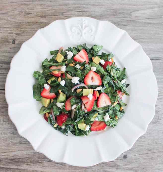 Summer-Kale-Salad-with-Strawberries-Avocado-Pine-Nuts-and-Goat-Cheese-9